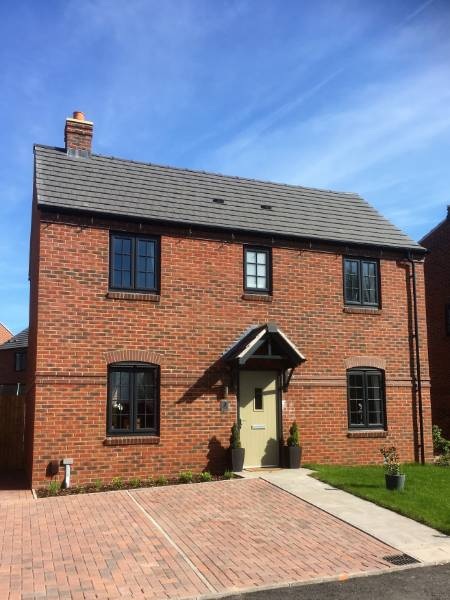 Profile 22 Optima Chamfered Windows used in a social housing development in Telford