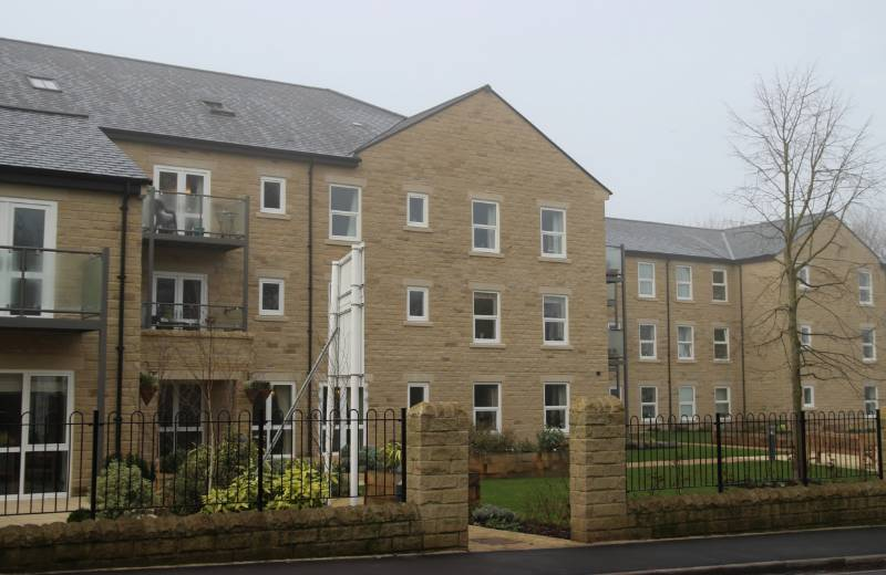 Retirement Apartments, Otley. Featuring Deceuninck 5000 Series and white on white Decoroc