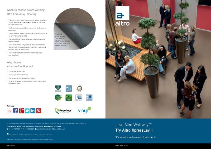 Altro XpressLay Adhesive Free Product Brochure