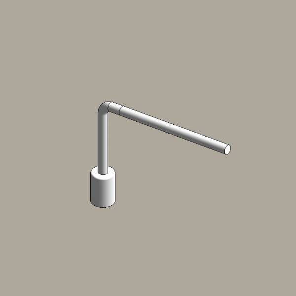 Aluminium column uplift brackets - single arm