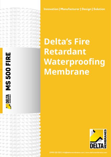 Delta Fire Retardant Waterproofing System
