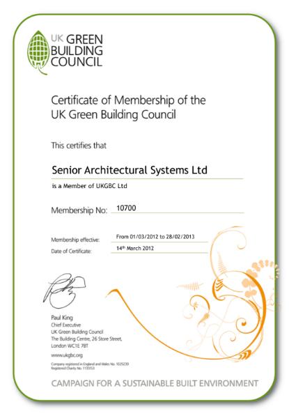 UK Green Building Council Certificate