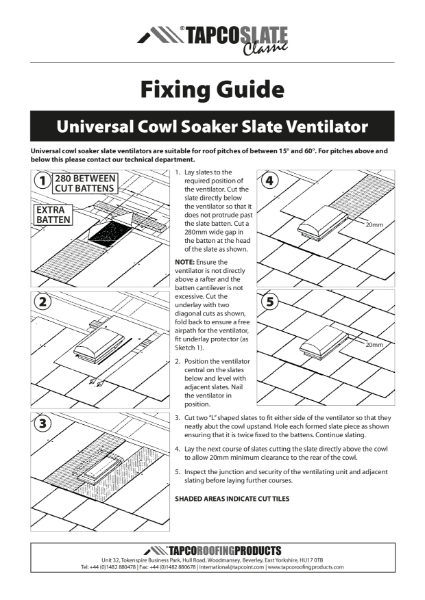 Tapco Cowl Vent Fixing Guide
