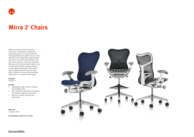 Mirra 2 Chair - Product Sheet