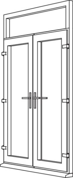 Traditional 2500 French Door - F2 Open In