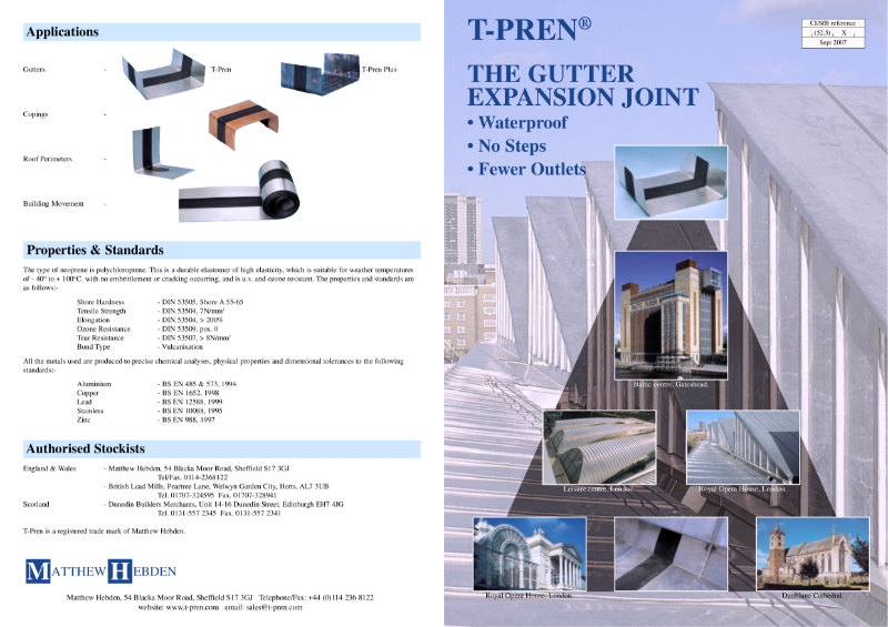 T-Pren - The Gutter Expansion Joint