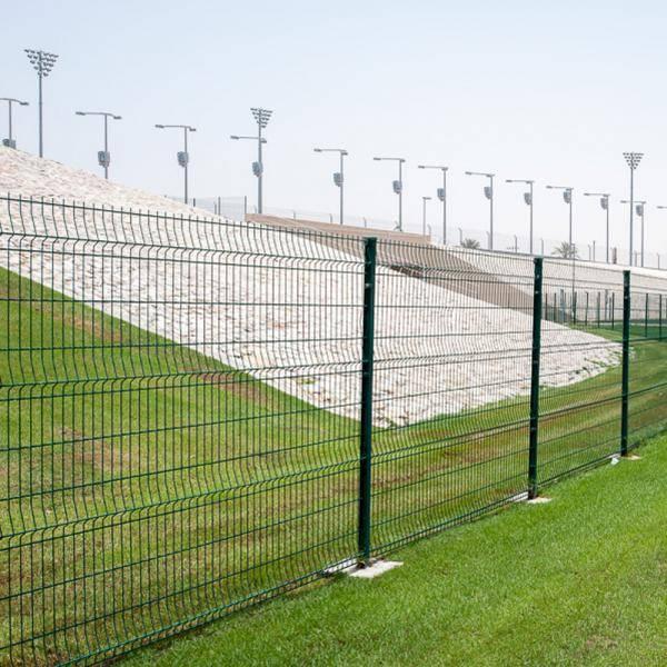 Nylofor City + Nylofor-Twilfix Posts With Fixators - Metal mesh fence panel