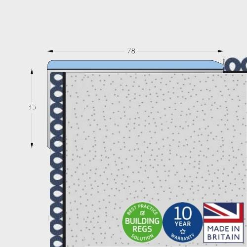 Q Range Wide - (Alternative to Double Channel) Stair Nosing/ Stair Edging for 3.5 mm to 9 mm Floorcoverings