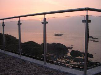 ASF Post and Clamp Glass Balustrade