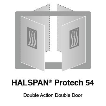HALSPAN® ProTech 54 mm Interior Grade Door Blanks - Double Acting Double Doors