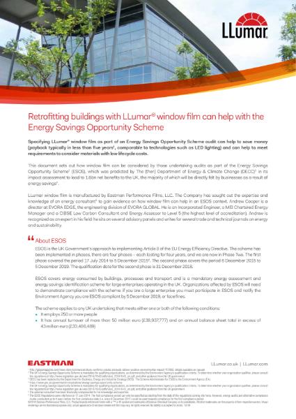 LLumar window films and ESOS