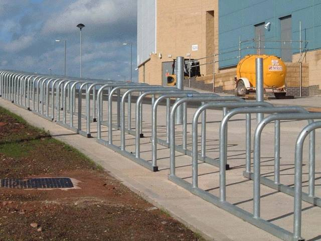 Sheffield Toastrack Cycle Rack - Galvanized Steel