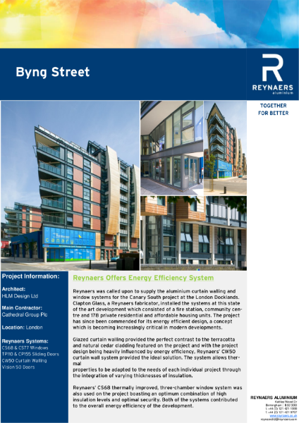 Case Study: Byng Street, featuring CS 68 aluminium windows