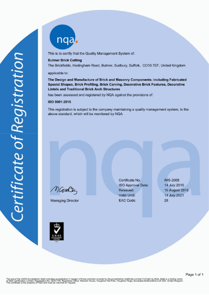 ISO 9001:2015 Accreditation Certificate
