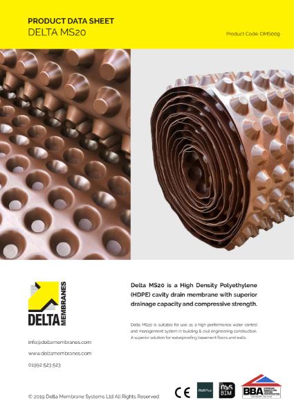 Delta MS 20 Product Data Sheet