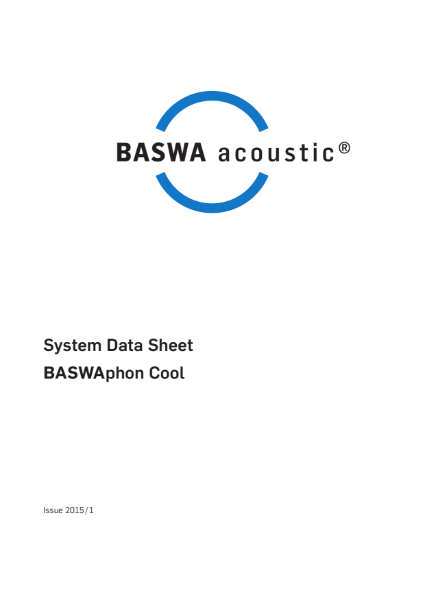 BASWA Cool - acoustic plaster ceiling with integrated heating and cooling
