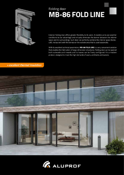 MB-86 FOLDLINE bifolding door system - Product information