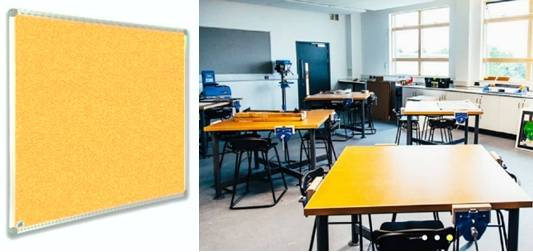 Sundeala Fire Rated Noticeboard - Aluminium Framed with Fabric Finish
