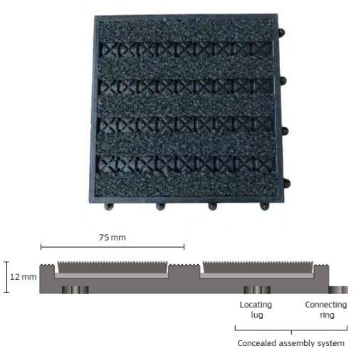 Entrance Matting: Q-Click 25 cm Matting Tile