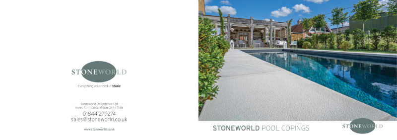 Stoneworld POOL COPINGS mini brochure