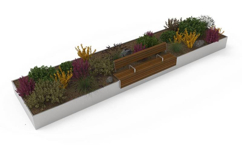 AKRI® 300 steel planter walling