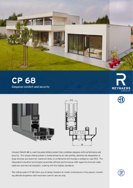 Aluminium Sliding Door System - CP 68 Concept Sliding System