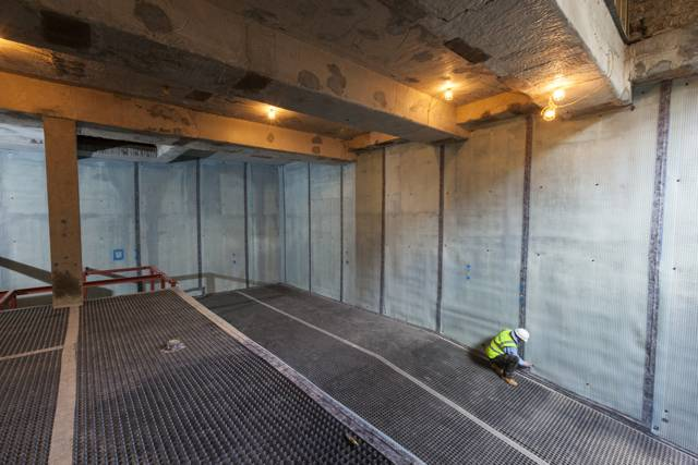 Type C waterproofing system for Notting Hill basement