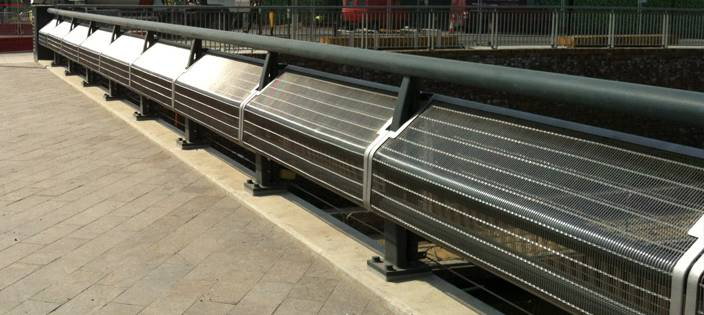 Woven Wire Mesh Balustrade at Kings Cross Plaza