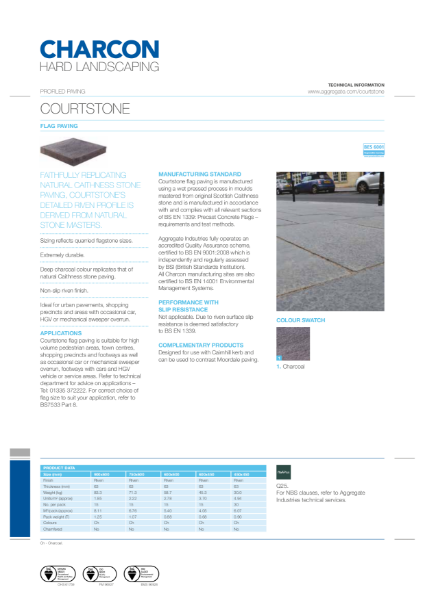 Charcon Courtstone flag paving