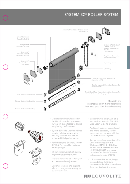 Roller System 32 Technical Specification