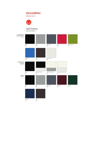 Sayl Chair - Colour Choices