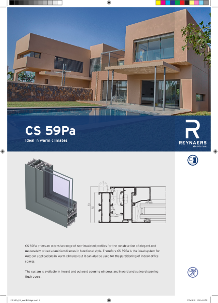 Aluminium Window & Door System - CS 59Pa Concept System