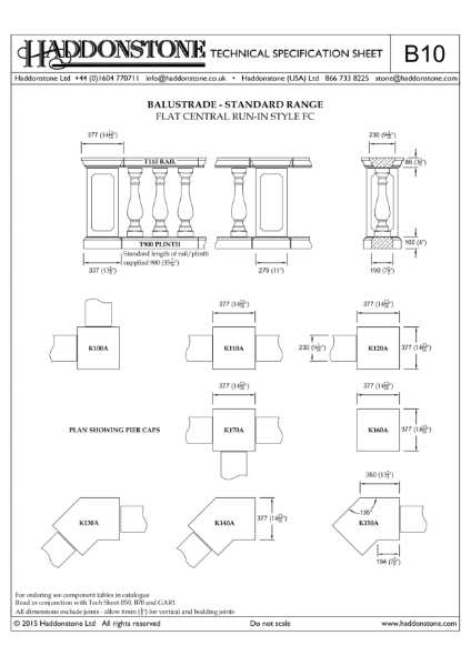 Balustrade - Technical Details