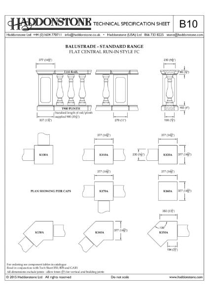 Balustrade - Technical Details