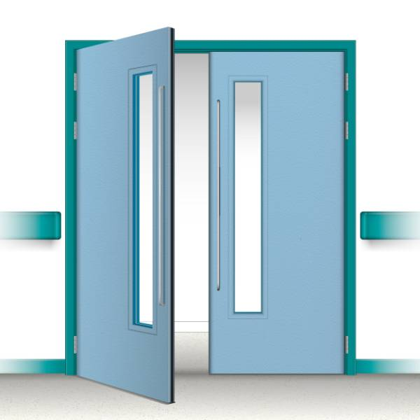 Postformed Double Doorset - Vision Panel 4