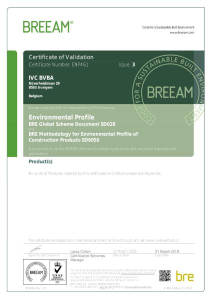 BREEAM Certificate