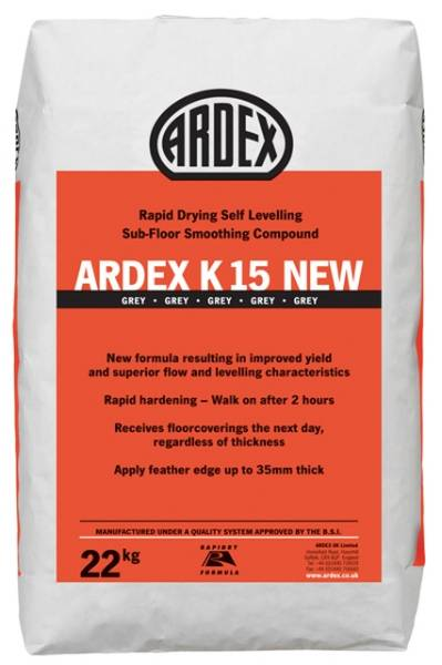 ARDEX K 15 Rapid Drying Heavy Duty Self-Levelling Smoothing Compound