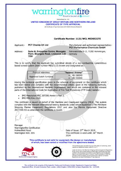 Wheel Mark Certificate - Certificate of Approval
