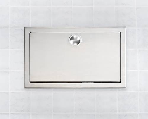 Recessed Clad Stainless Steel Nappy Changing Unit KB110-SSRE