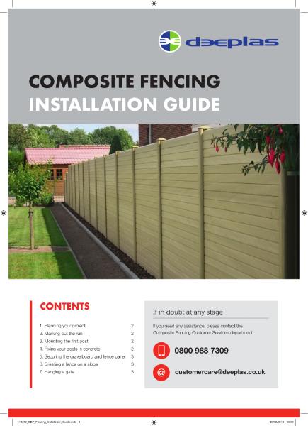 Deeplas Composite Fencing Installation Guide