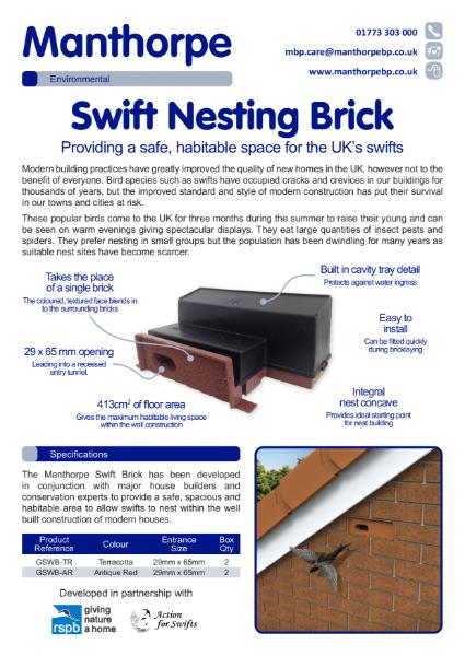 Swift Nesting Brick