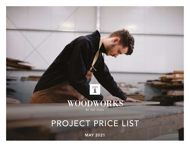 Woodworks MRP Project Price List 2021