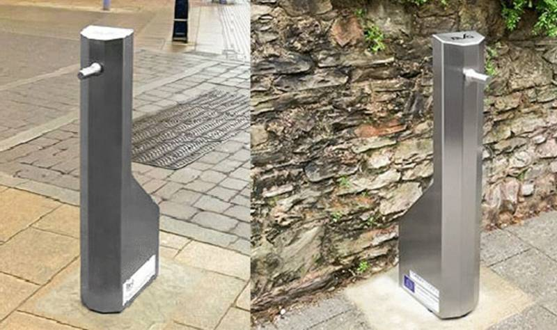 """Paving the way for a """"new normal"""" with outdoor sanitiser stations"""