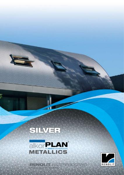 ALKORPLAN waterproofing membrane single ply  Metallics - Silver