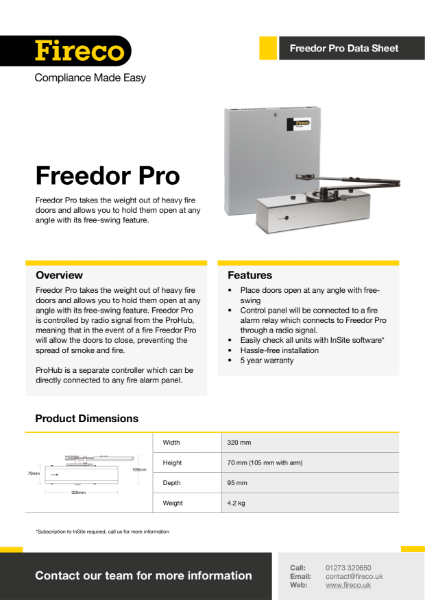 Freedor Pro Technical Data Sheet