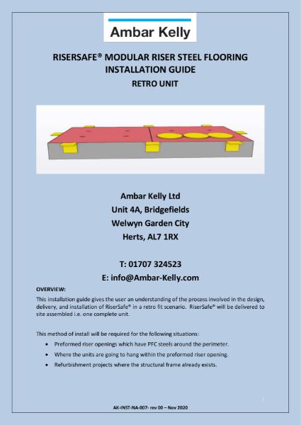 RiserSafe Modular Riser Steel Flooring - Installation Guide - Retro Fit Logisitics plan