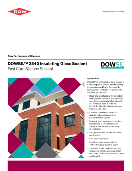 DOWSIL 3540 Insulating Glass Fast Cure Silicone Sealant