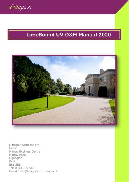 LimeBound Resin Bound Surfacing UV O&M Manual