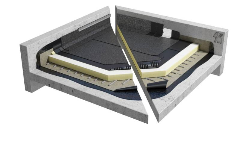 Sopralene Flam 180 AF - Bituminous Warm Flat Roof system (CNB1PGPSBK_001)
