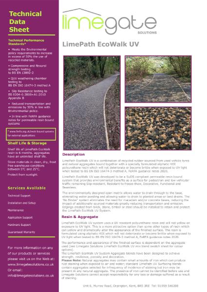 LimePath EcoWalk UV Technical Data Sheet